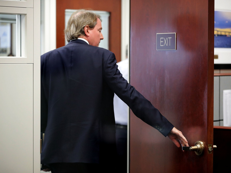 White House Counsel Don McGahn, who departed his post last week, heads into an August meeting with then-Supreme Court nominee Brett Kavanaugh and Sen. Sheldon Whitehouse, D-R.I. Confirming the newest Supreme Court justice was a capstone on his tenure. (Chip Somodevilla/Getty Images)