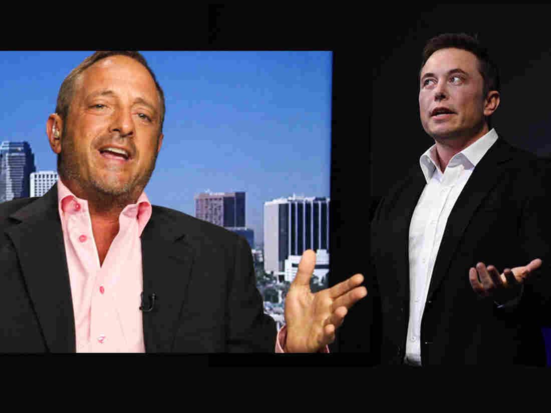 Short Seller Andrew Left and Tesla CEO Elon Musk