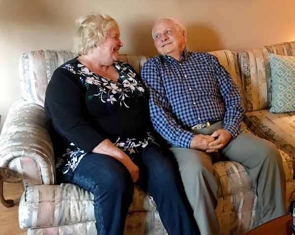 """Carol and Lloyd Bates in Denver, Colo. """"I understood very well the dangers of having a gun in the house and what it could lead to,"""" says Lloyd. So, after his dementia diagnosis, they locked away his Colt .45-caliber revolver."""