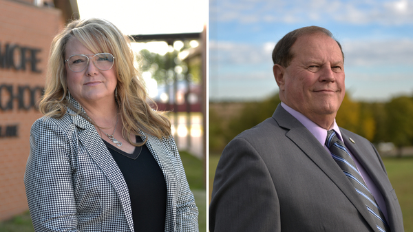 Republican Sherrie Conley (left) and Democrat Steve Jarman are competing to represent the same district in Oklahoma