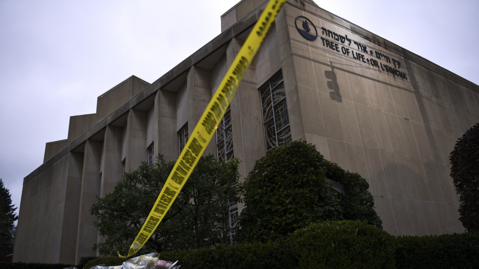 Officials are treating Robert Bowers' attack on the Tree of Life Congregation as a hate crime. (BRENDAN SMIALOWSKI/AFP/Getty Images)