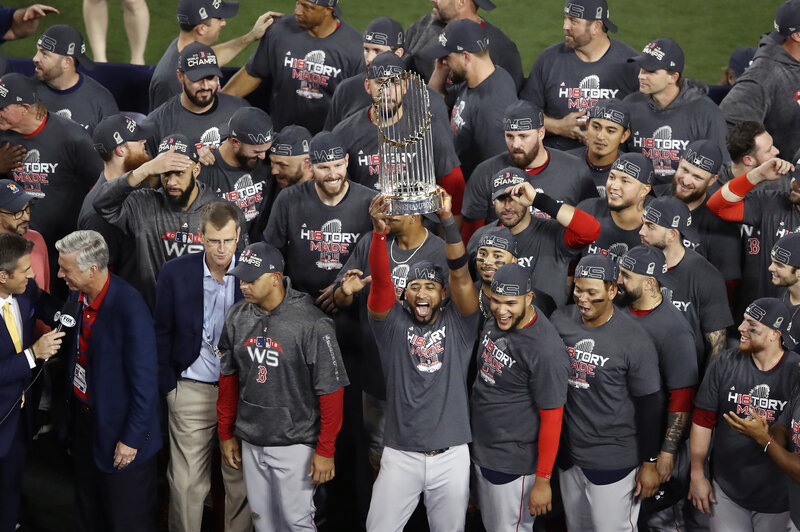 Image result for red sox win 2018 world series