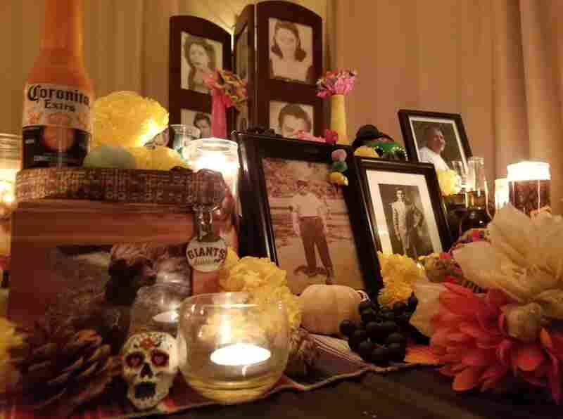 Irene Contreras' altar for Dia de los Muertos.