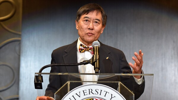 University of Maryland President Wallace Loh, seen here in August, said Tuesday that he will retire in June 2019.