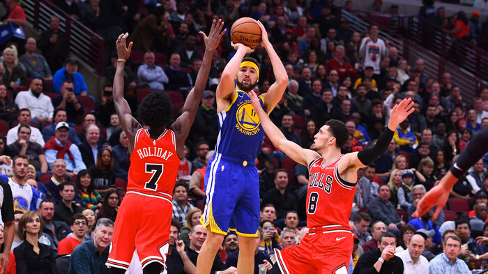 Klay Thompson Breaks NBA s 3-Point Record Held By Teammate Stephen Curry. Golden  State Warriors guard Klay ... ab26f8653