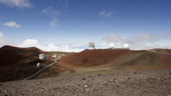 Telescopes on the summit of Mauna Kea on Hawaii
