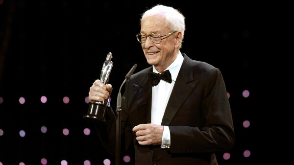 Sir Michael Caine attends the European Film Award ceremony in Berlin in 2015, when he won the best actor prize for his work on the movie Youth.