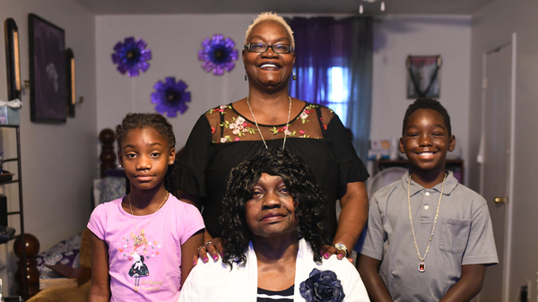 """Gloria """"Gigi"""" Johnson is the caregiver for her mother and two grandchildren. Johnson is a pillar of the Warner Robins community and promotes voting in her neighborhood."""