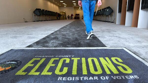 Residents in the traditional Republican stronghold of Orange County, Calif., got to make their voice heard last week at an Early Vote Center in Huntington Beach, Calif.