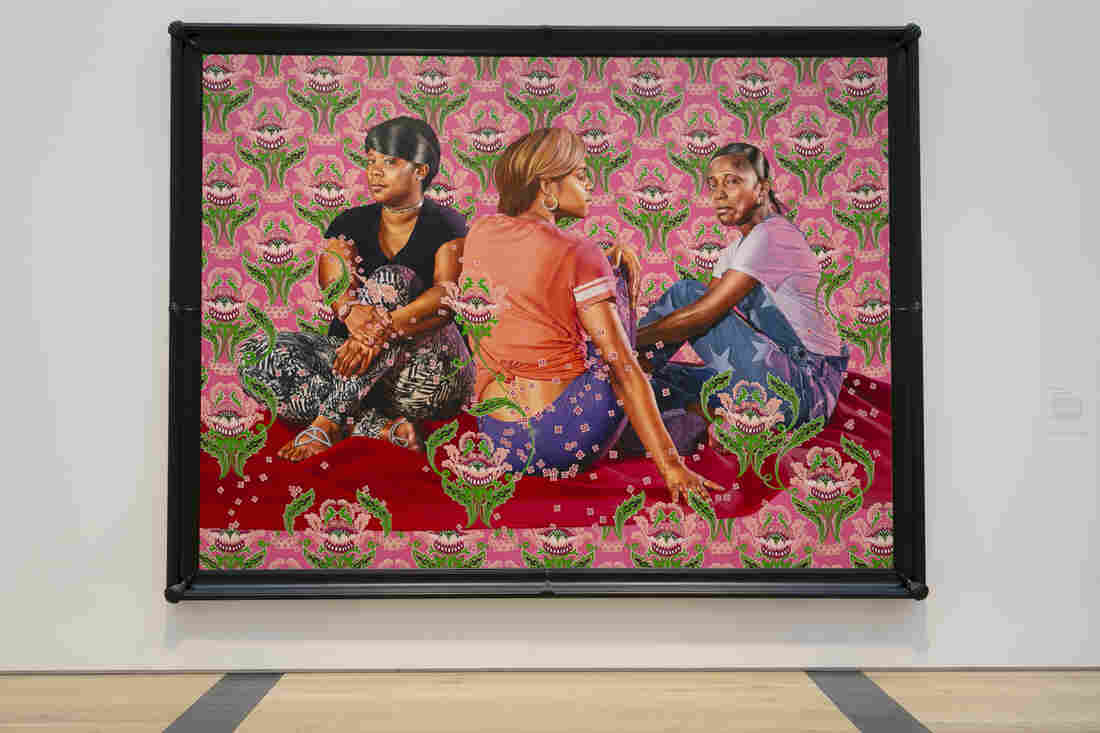 Three Girls in a Wood by Kehinde Wiley