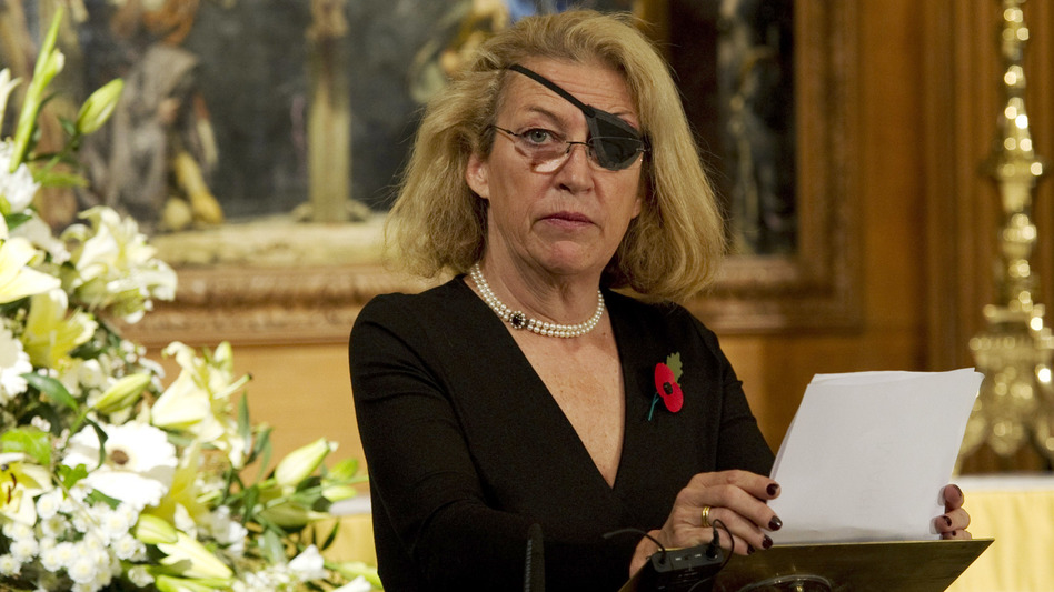 The life and death of <em>Sunday Times </em>war correspondent Marie Colvin, pictured here in 2010, is the subject of a new book by Lindsey Hilsum, a fellow journalist.