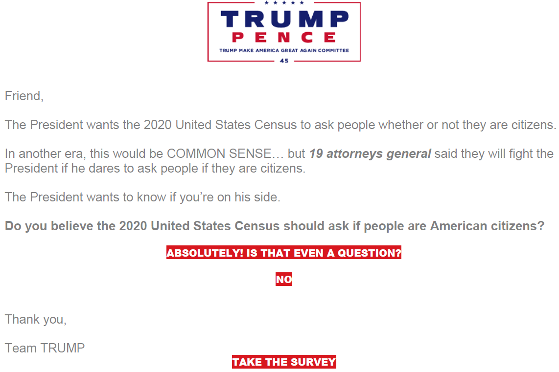 b089b783fa7 ... a week before Commerce Secretary Wilbur Ross announced his decision to  add a citizenship question to the 2020 census. Trump Make America Great  Again ...