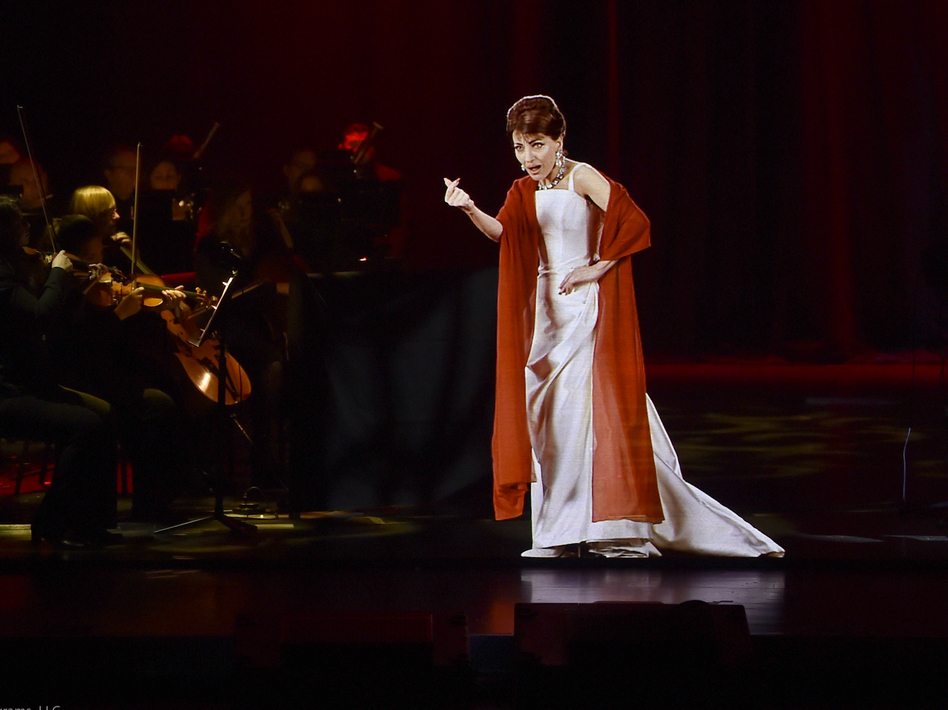 A hologram of the legendary soprano Maria Callas is currently touring North America and Europe. (Evan Agostini/Base Hologram)