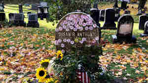 'I Voted' Stickers Pile Up In Emotional Tribute At Susan B. Anthony's Grave