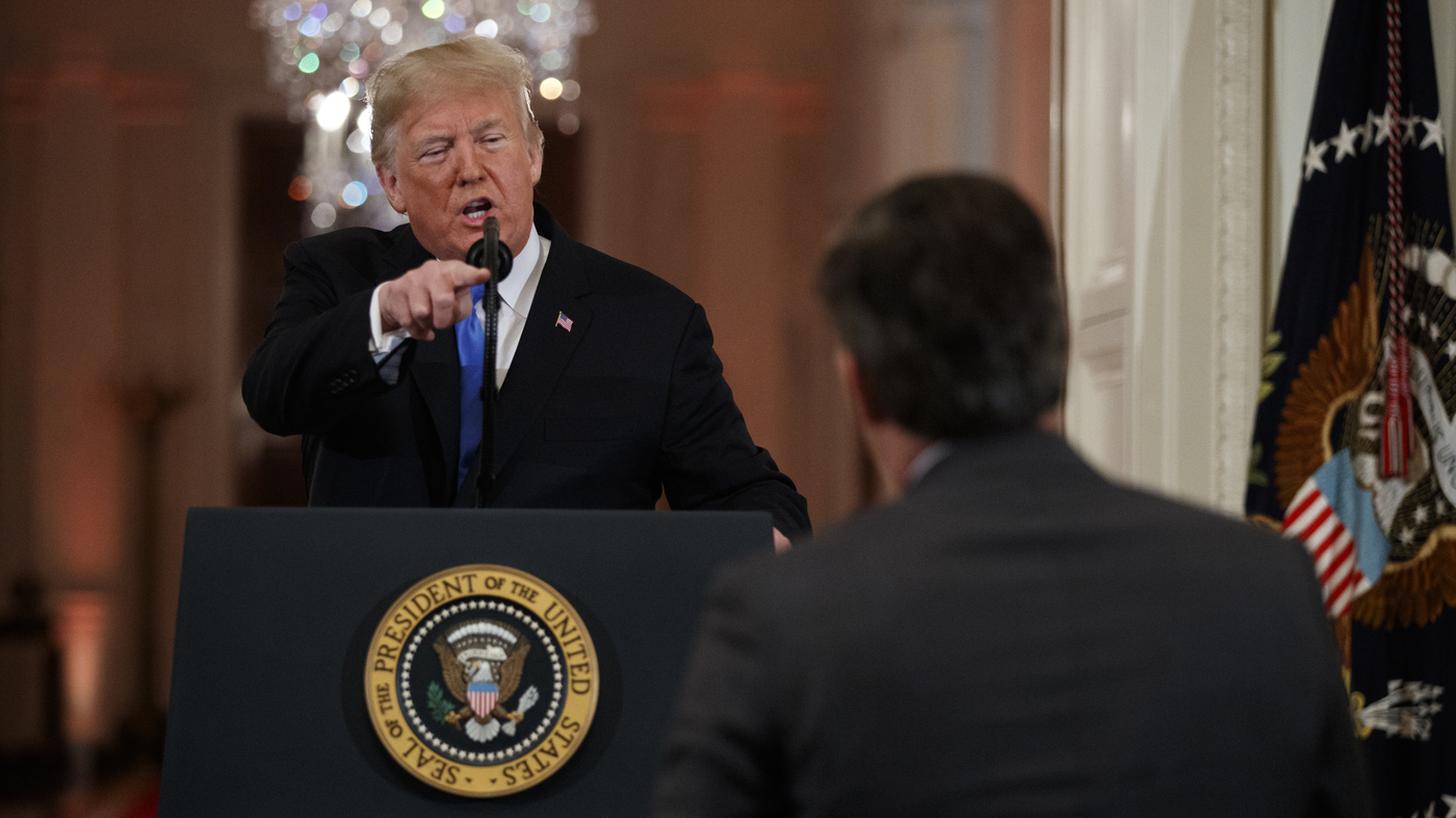 photo image White House Revokes Press Pass Of CNN's Jim Acosta