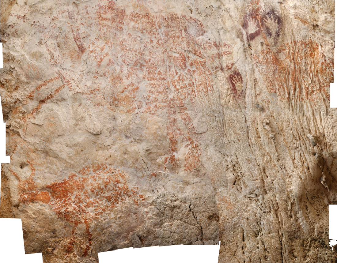 Prehistoric art in Borneo cave includes world's oldest figurative painting