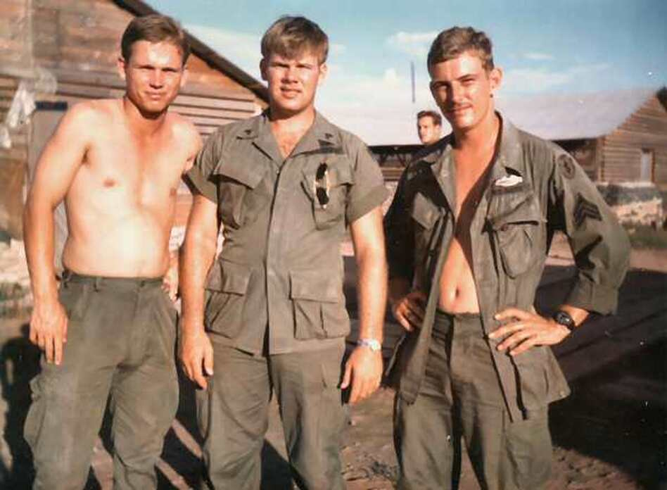 Staff Sgt. Tom Frame, the author's father, stands at right in this 1968 snapshot from Vietnam. (Frame family photo)