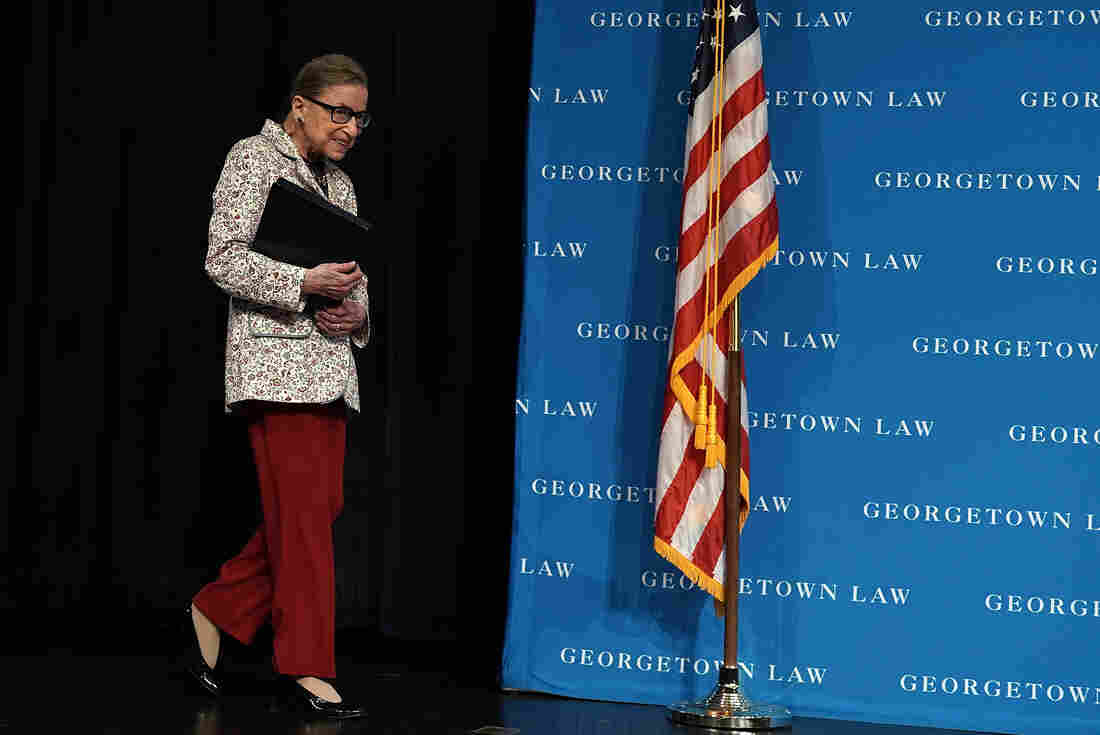 Supreme court justice Ruth Bader Ginsburg in hospital after fall at court