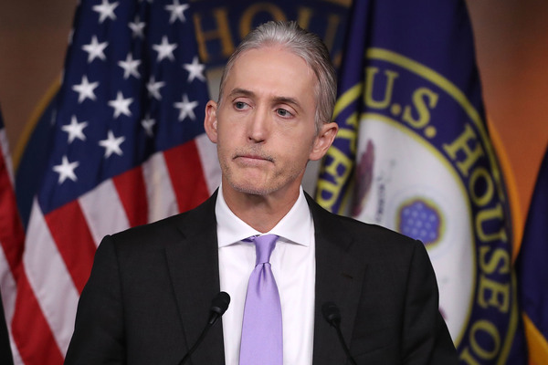 Republican Rep. Trey Gowdy of South Carolina participates in a news conference about the Benghazi investigation in 2016.