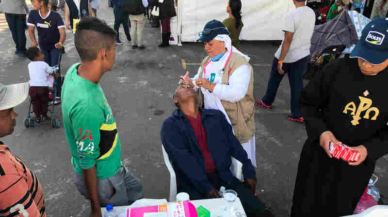 Health Care For The Migrant Caravan: Flu, Blisters But Definitely Not Smallpox