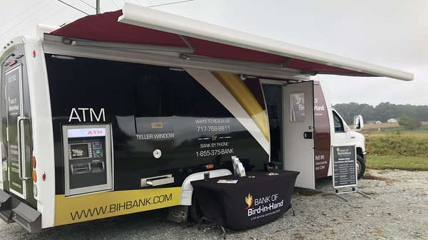The mobile banking unit at the Bank of Bird-In-Hand, based in Bird-In-Hand, Pennsylvania.
