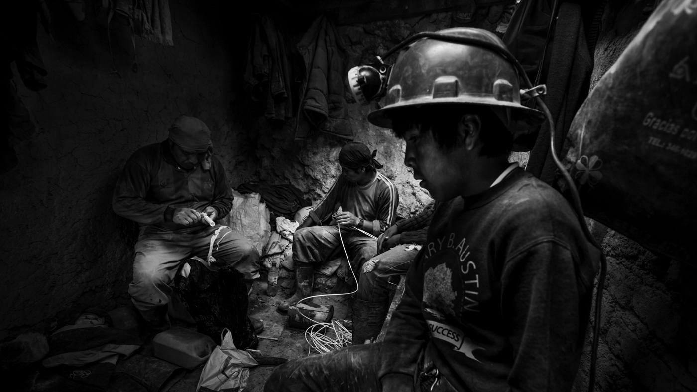 PHOTOS: Dust And Danger For Adults — And Kids — In Bolivia's Mines