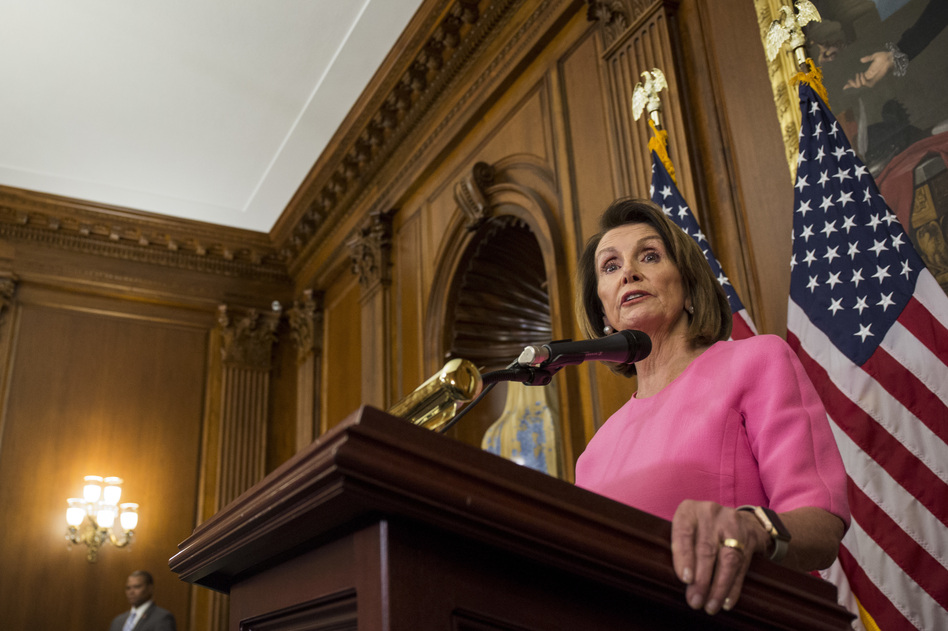 House Minority Leader Nancy Pelosi, D-Calif. holds a news conference following the 2018 midterm elections on Nov. 7, 2018. Pelosi expects to lead the House Democrats and plans an agenda focused on promoting campaign finance reform, an expansion of voting rights and overhauling political redistricting. (Zach Gibson/Getty Images)