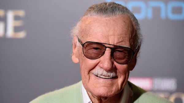 Stan Lee, American comic book writer, editor, publisher and former President of Marvel Comics, attends the premiere of Doctor Strange in 2016. Lee died Monday at the age of 95.