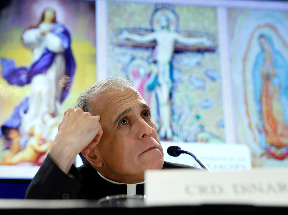 """I am sorry for the late notice, but in fact this was conveyed to me late yesterday afternoon,"" Cardinal Daniel DiNardo, president of the U.S. Conference of Catholic Bishops, said Monday, postponing moves that had been touted as concrete steps in response to the clergy sexual abuse scandal. (Kevin Lamarque/Reuters)"