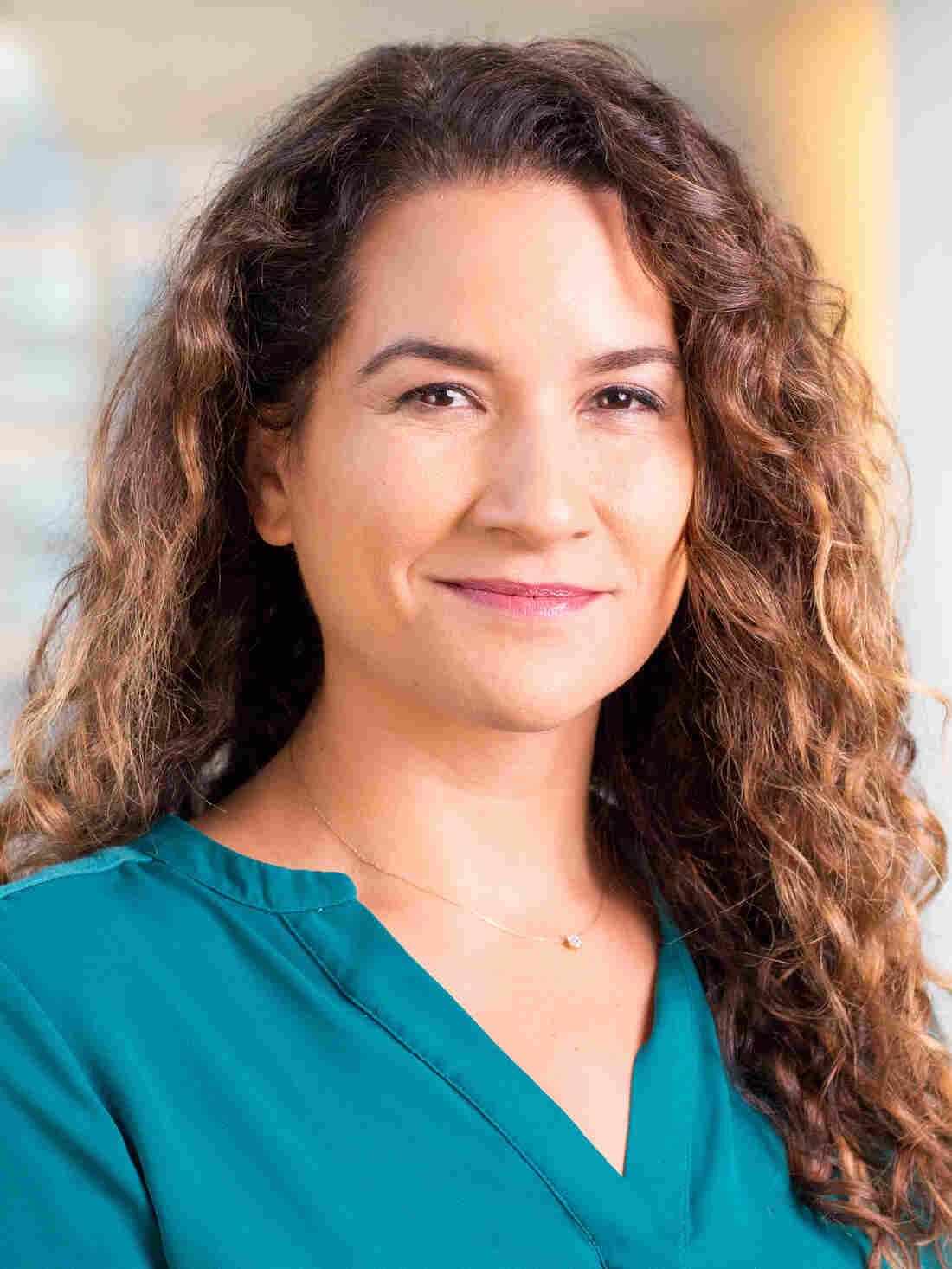 Leila Fadel at NPR headquarters in Washington, D.C., September 27, 2018. (photo by Allison Shelley)