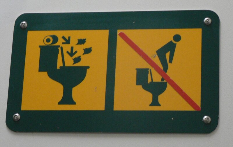 toilet signs around the world offer advice and may spark laughter