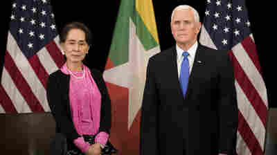 Pence Condemns Myanmar's Suu Kyi For Treatment Of Rohingya, Imprisoned Journalists