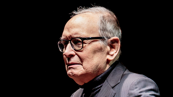 The composer Ennio Morricone, onstage in December 2017 in Milan.