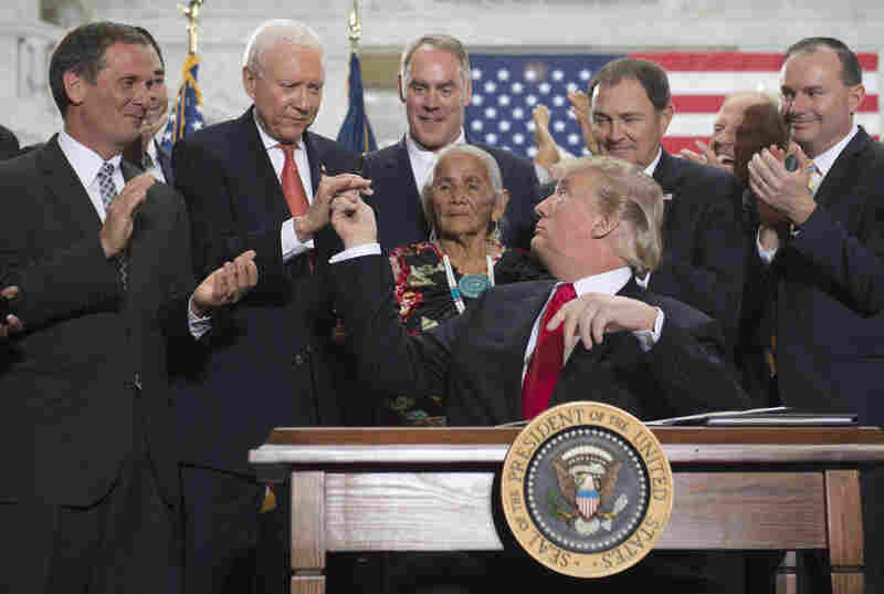 Sen. Orrin Hatch, a staunch supporter of President Trump, is one of the most well-known Republicans in American politics. After signing a presidential proclamation on national monuments last year, Trump handed the senator a pen to commemorate the event.