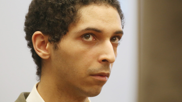 """Tyler Barriss at a preliminary hearing in May 2018 for the """"swatting"""" death of Andrew Finch in late December of 2017."""