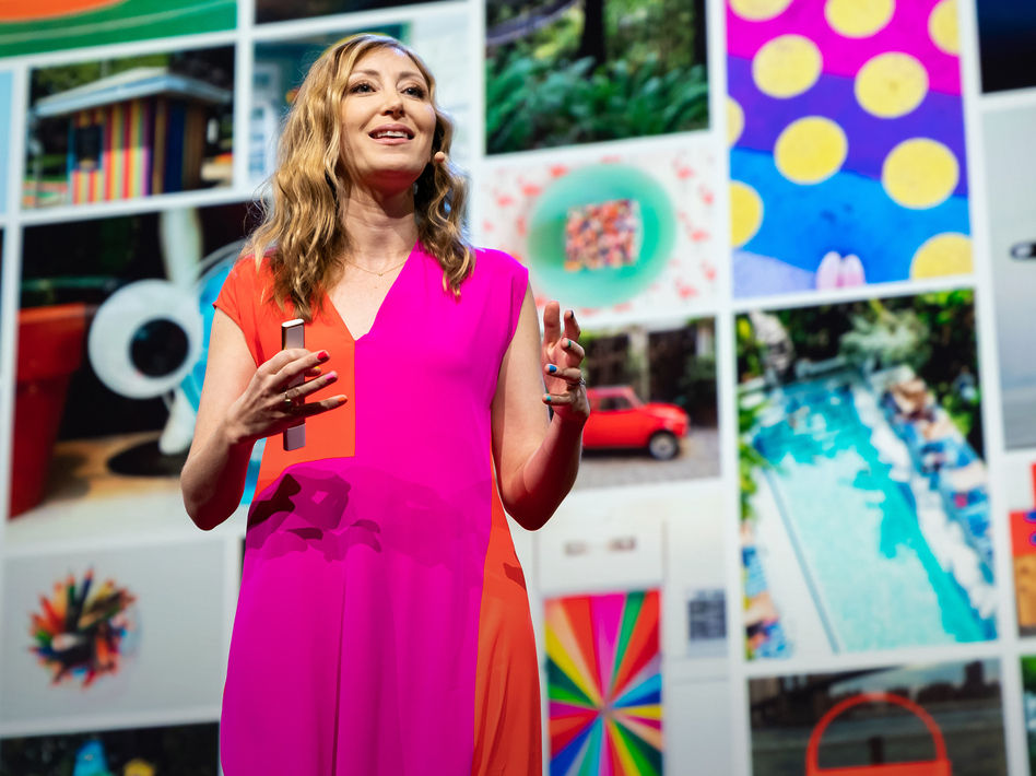 Ingrid Fetell Lee on the TED stage. ( Ryan Lash/TED)