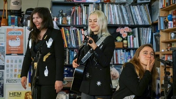 Lucy Dacus, Phoebe Bridgers, and Julien Baker played a Tiny Desk Concert together as boygenius.