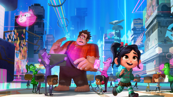 Ralph (voiced by John C. Reilly) wants things to stay the same; Vanellope (voiced by Sarah Silverman) has other plans, in Ralph Breaks the Internet.