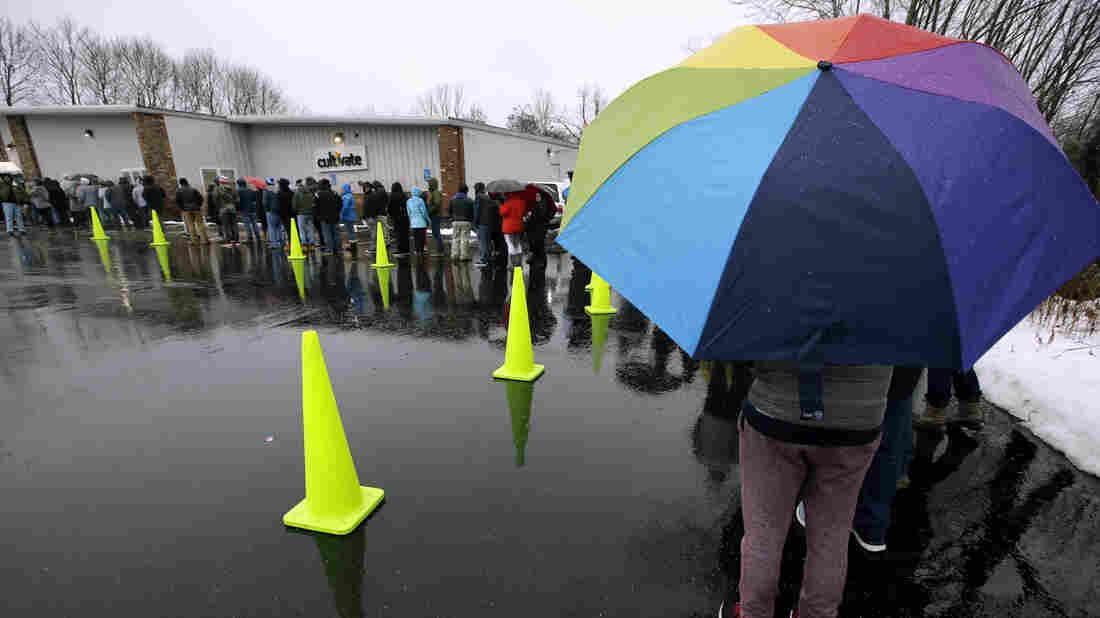 Green Tuesday: Crowds line up at first legal pot shops in MA
