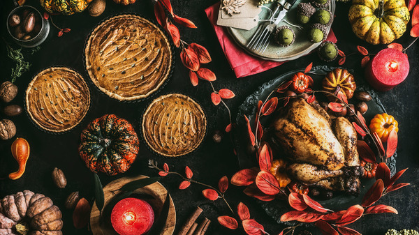 Thanksgiving day spread.