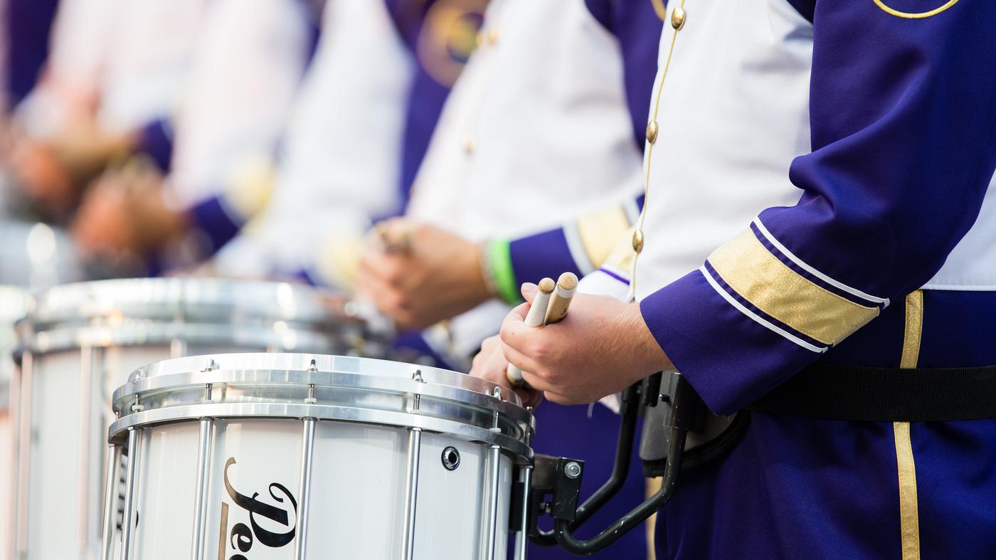 Bus Overturns Carrying University Of Washington Marching Band : NPR