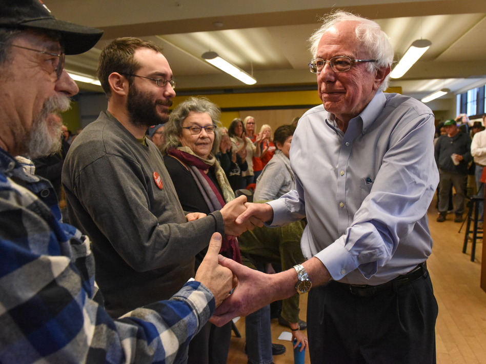 U.S. Sen. Bernie Sanders attends a campaign event for Democratic gubernatorial candidate Christine Hallquist on Nov. 4 in Montpelier, Vt. (Stephanie Keith/Getty Images)