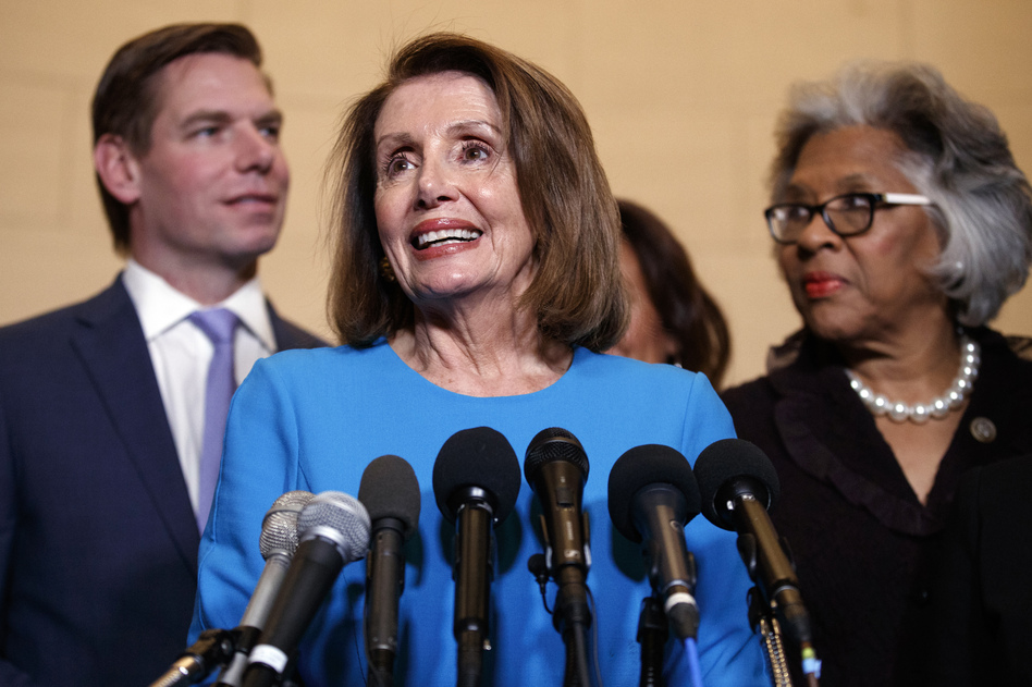 House Democratic leader Nancy Pelosi of California has been chosen by her party to be speaker of the House come January. The final vote on speakership is on Jan. 3. (Carolyn Kaster/AP)