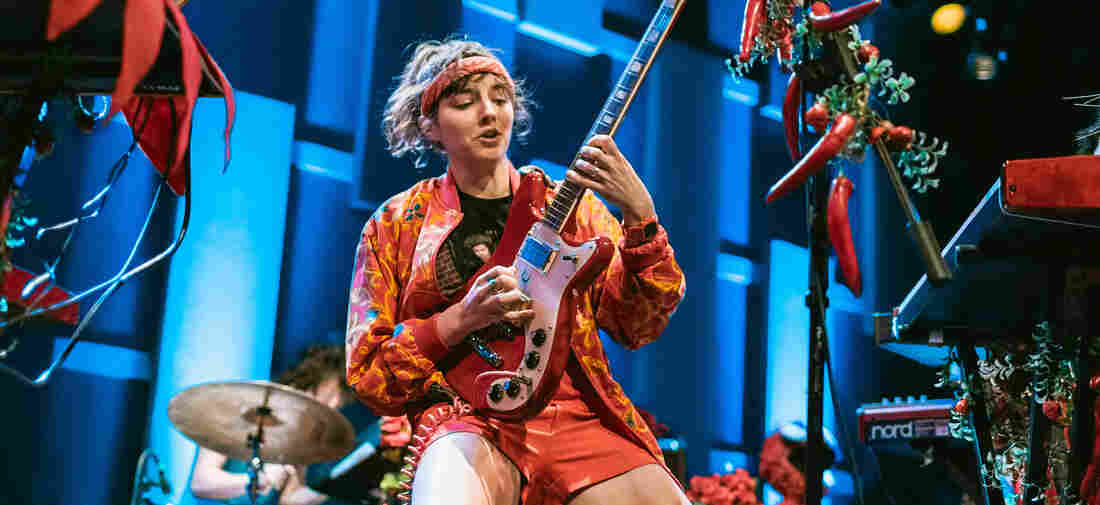 Caroline Rose performs live at WXPN's Free At Noon Concert at World Cafe Live in Philadelphia.