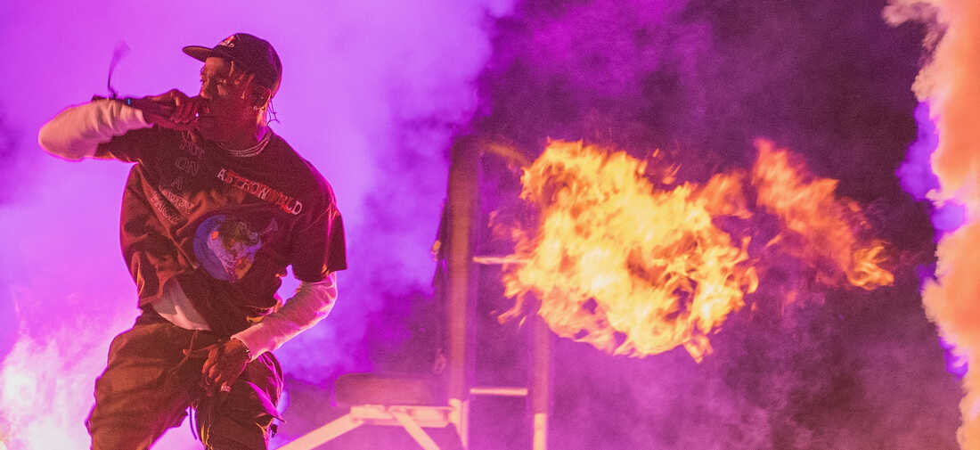 Travis Scott performs onstage during his inaugural Astroworld Festival at NRG Park on November 17, 2018 in Houston, Texas.