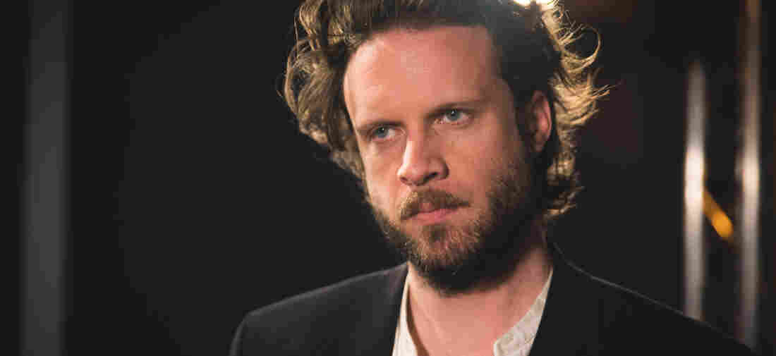 Father John Misty inside the World Cafe performance studio.