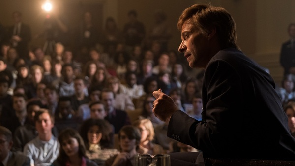 In The Front Runner, Hugh Jackman plays Gary Hart, whose 1987 presidential campaign was swiftly derailed by reports of an extramarital affair.