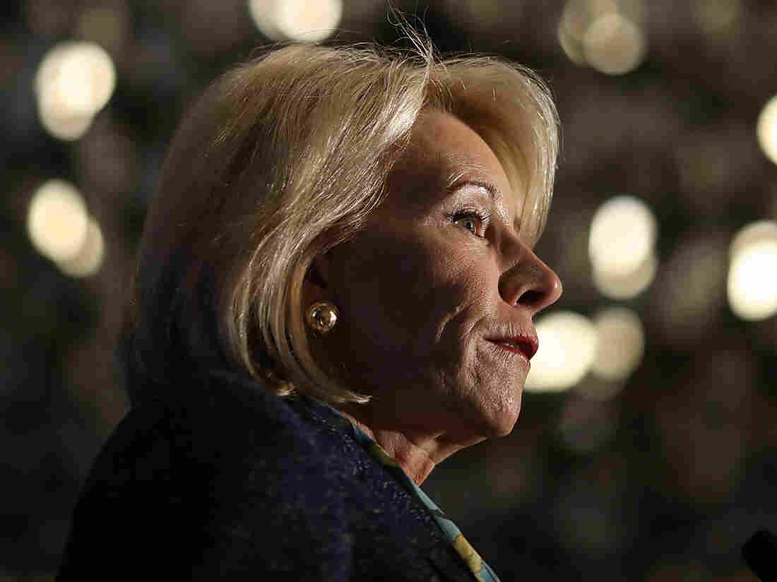 A picture of U.S. Education Secretary Betsy DeVos