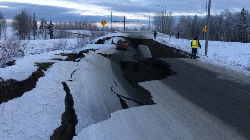 Magnitude 7 0 Earthquake Shakes Alaska, Damaging Roads