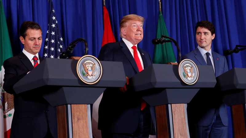 Usmca Trump Signs New Trade Agreement With Mexico And Canada To